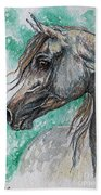 The Grey Arabian Horse 13 Beach Towel