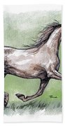 The Grey Arabian Horse 8 Beach Towel