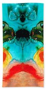 The Guardians - Visionary Art By Sharon Cummings Beach Towel by Sharon Cummings