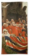The Guards Cheer, 1898 Beach Towel