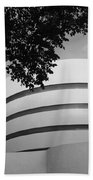 The Guggenheim Museum In Black And White Beach Towel