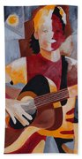 The Guitar Player Beach Towel