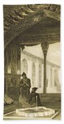 The Hall Of Mirrors In The Palace Beach Towel by Grigori Grigorevich Gagarin