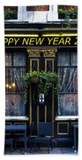 The Happy New Year 2014 Pub Beach Towel