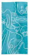 The Harp Player Beach Towel