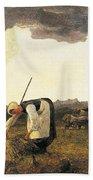 The Hay Harvest  Beach Sheet