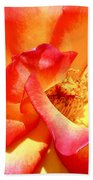 The Heart Of A Rose Beach Towel