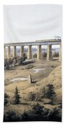 The High Bridge Near Farmville, Prince Beach Towel