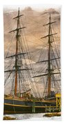 The Hms Bounty Beach Towel by Debra and Dave Vanderlaan