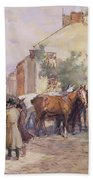 The Horse Fair  Beach Towel by John Atkinson