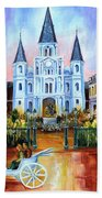The Hours On Jackson Square Beach Towel