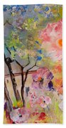 The House Of The Rising Flowers Beach Towel