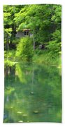 The House On The Bank Of The Lake Beach Towel
