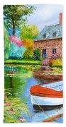 The House Pond Beach Towel