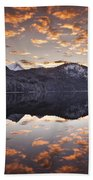 The Hut By The Lake Beach Towel