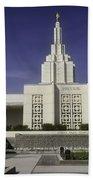The Idaho Falls Mormon Temple Beach Towel