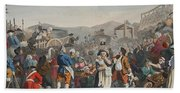 The Idle Prentice Executed At Tyburn Beach Towel