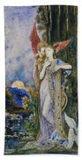 The Inspiration  Beach Towel by Gustave Moreau