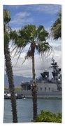 The Japanese Self Defense Force Ship Js Beach Towel