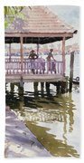 The Jetty Cochin Beach Towel by Lucy Willis