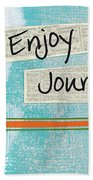 The Journey Beach Towel by Linda Woods