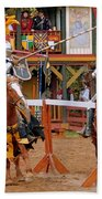 The Jousters 3 Beach Towel