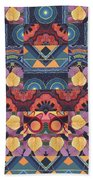 The Joy Of Design Mandala Series Puzzle 5 Arrangement 1 Beach Towel