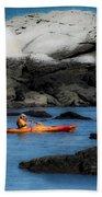 The Kayaker Beach Towel