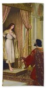 The King And The Beggar-maid Beach Towel