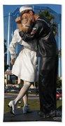 The Kiss - Sailor And Nurse - Sarasota  Beach Towel