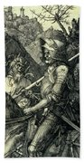 The Knight, Death And The Devil Beach Towel