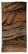 The Ladder Down Into Sapupu Canyon Beach Towel