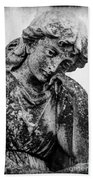 The Lady In Mourning 03 Bw Beach Towel