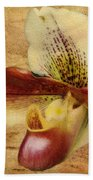 The Lady Slipper Orchid Beach Towel