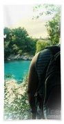 The Lagoon Beach Towel by Jasna Buncic