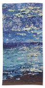 The Lake On A Cloudy Day In October Beach Towel
