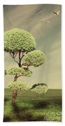 The Land Of The Lollipop Trees Beach Towel