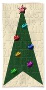 The Language Of Christmas Beach Towel