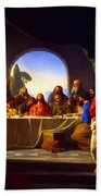 The Last Supper By Carl Heinrich Bloch Beach Towel