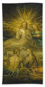 The Last Supper Beach Towel by William Blake