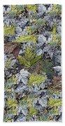 The Leaf Pile Beach Towel