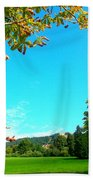 The Leaves Are Turning Golden... Beach Towel