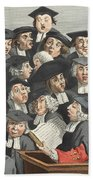 The Lecture, Illustration From Hogarth Beach Towel
