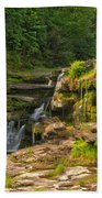 The Ledges Waterfalls Beach Towel