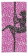 The Leopard Stripper Beach Towel