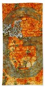 The Letter G With Lichens Beach Towel