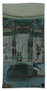 The Library, C.1820, Battersea Rise Beach Towel by English School