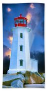 The Lighthouse At Peggys Cove Beach Towel