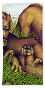 The Lion Family Beach Towel