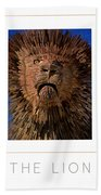 The Lion Poster Beach Towel